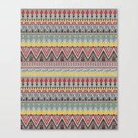 whisky Canvas Prints featuring WHISKY AZTEC  by Kiley Victoria