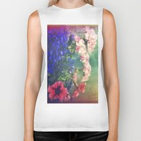 olivia joy Biker Tanks featuring Flowers of my joy by Victoria Herrera