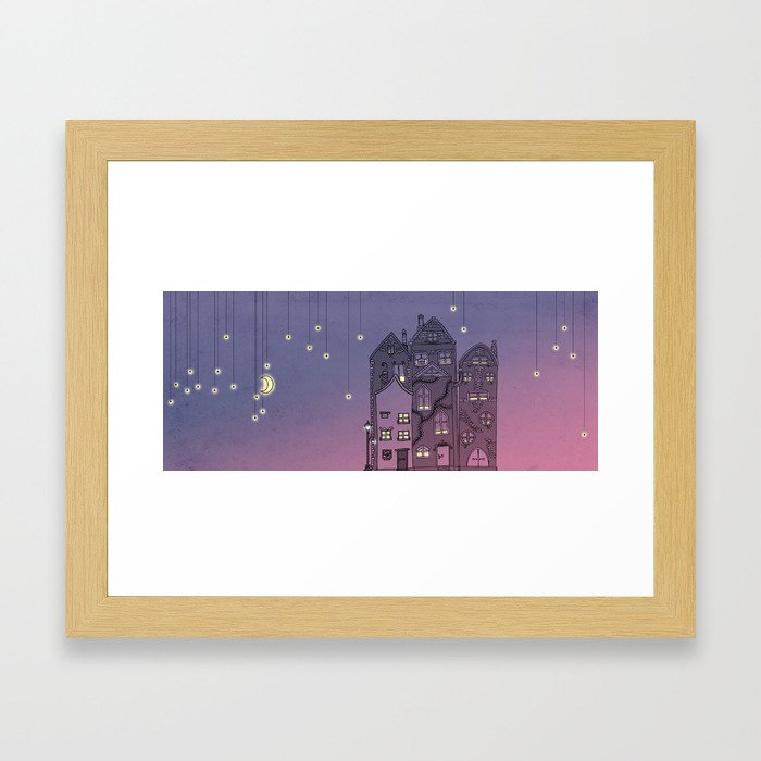 Midnight Teaparty Framed Art Print