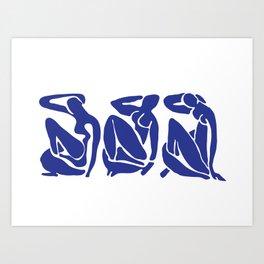 Blue Matisse Art Print