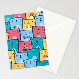 Cute Kawaii Kitty Pattern Stationery Cards