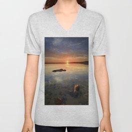 """""""Sun at the beach"""" Unisex V-Neck"""