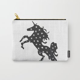 Unicorn Power with Transparent Background Carry-All Pouch
