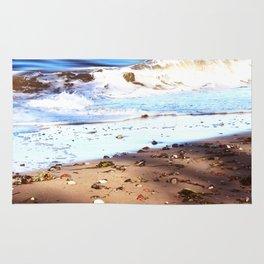Waves Sand Stones Rug