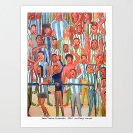 Gran tribuna 2 (detalle) by Diego Manuel Art Print