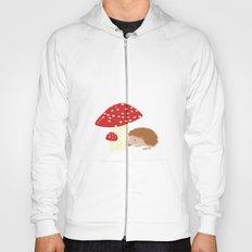 Hedgehog With Mushrooms Hoody