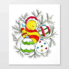 Christmas Cuddle Canvas Print