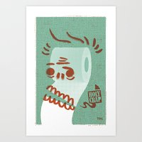 toilet Art Prints featuring Toilet Paper by YONIL