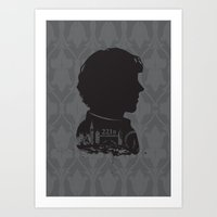 221b Art Prints featuring Sherlock - 221b by Miss Wah