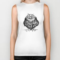 dragon ball Biker Tanks featuring Owl Ball by Dave Mottram