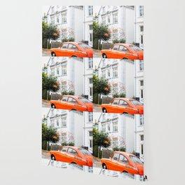 Car and orange Wallpaper