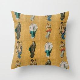 """William-Adolphe Bouguereau """"Seasons"""" Throw Pillow"""