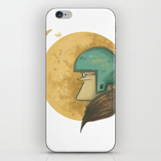 flying to the moon iPhone & iPod Skin