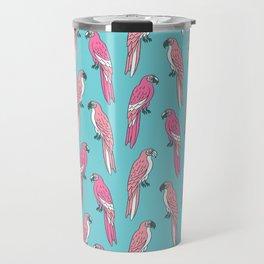 Parrots tropical birds jungle bird parrot art pattern gifts Travel Mug