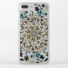 Floral Mandala Clear iPhone Case