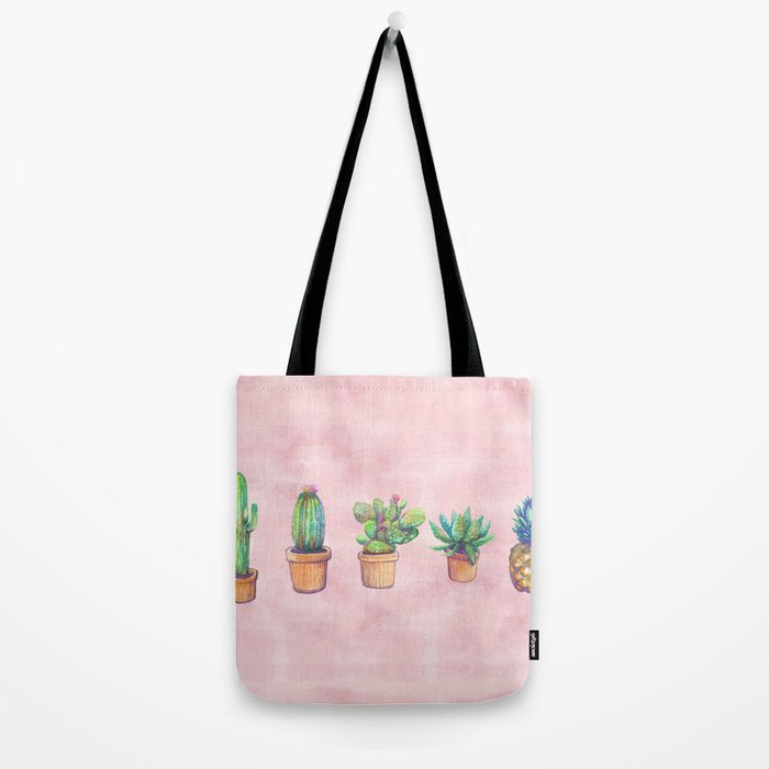 evolution cactus to pineapple water color Tote Bag