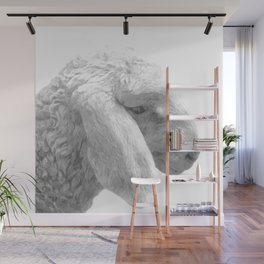 Black and White Sheep Wall Mural