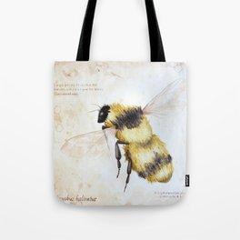 Bumble bee watercolor Tote Bag