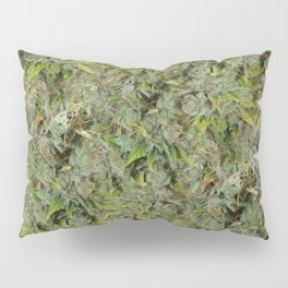 cannabis bud, marijuana macro Pillow Sham