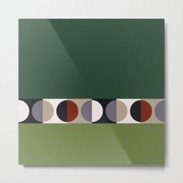malevich moon    pine green Metal Print