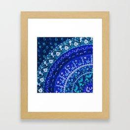 Ditsy Mandala Framed Art Print