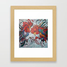 Farmyard Roosters Framed Art Print