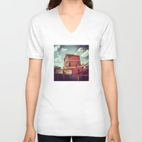 mexico V-neck T-shirts featuring Mexico by wendygray