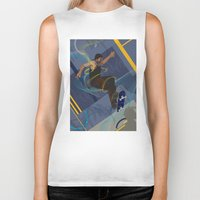 skateboard Biker Tanks featuring Project Skateboard by Martin Orme