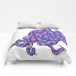 Floral Octopus  Comforters