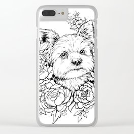 Color-Me Canine: Yorkshire Terrier Clear iPhone Case