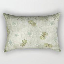 Sage Green Wallflowers Rectangular Pillow