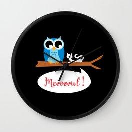 Meoooowl Wall Clock