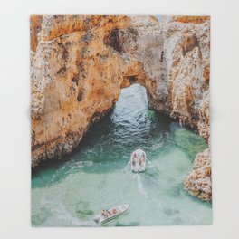 boat life iii / lagos, portugal Throw Blanket