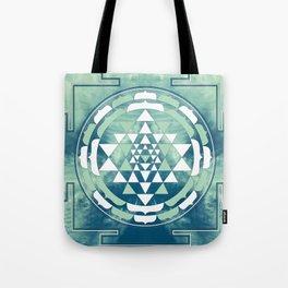 Sri Yantra Sky Mandala Tote Bag