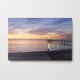 Brighton Beach Sunset Metal Print
