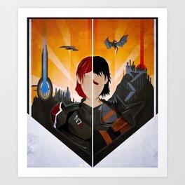 The Shepard & The Hawke Art Print