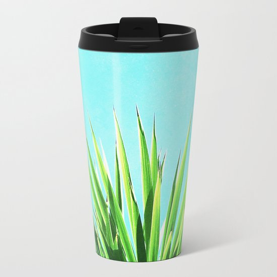 Solar Yucca Palm Metal Travel Mug