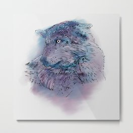 Wolf I Metal Print