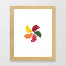 Candy Fruit Slices Framed Art Print