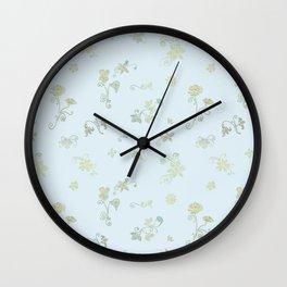 Fancy Flowers Wall Clock
