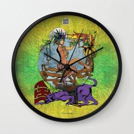 Bloom: An Awakening - Ode to Wildflowers (Nightblood) Wall Clock