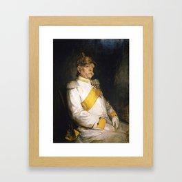 Otto von Bismarck, age 75 in 1890 Framed Art Print