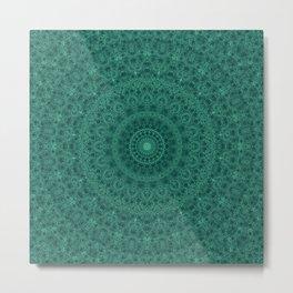 Kaleidoscope . The malachite. Metal Print