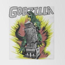 Godzilla War III Throw Blanket