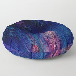 Glitch of Fantasy - Abstract Pixel Art Floor Pillow