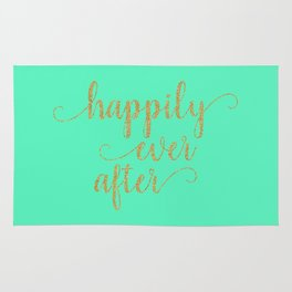 Happily Ever After - Mint and Gold Rug