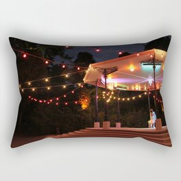 Bandstand in the park at night Rectangular Pillow