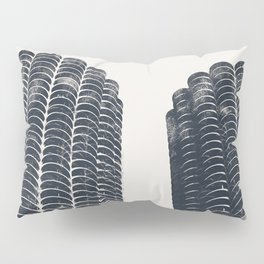 Chicago Architecture, Marina City, Chicago Wall Art, Chicago Art, Chicago Photography, Canvas Art Pillow Sham