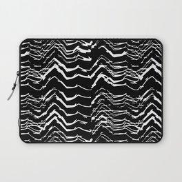 Dark Glitch Abstract Pattern Laptop Sleeve