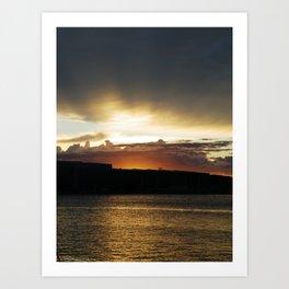 Sunset in Pula (Croatia) Art Print